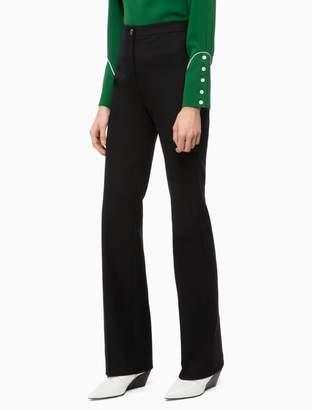 Calvin Klein slim fit high waist bootcut pants