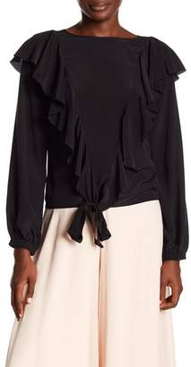 Nicole Miller Silk Ruffled Blouse