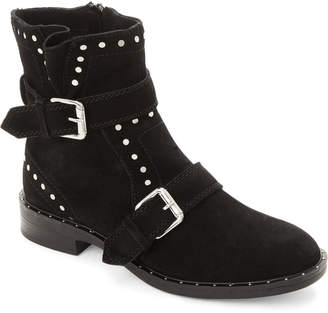 859d39eaf8f Steve Madden Steven By Black Zephyr Studded Suede Ankle Boots