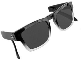 LEN Bobster Brix Folding Sunglasses-Gloss Grad Frame/Smoked Lens