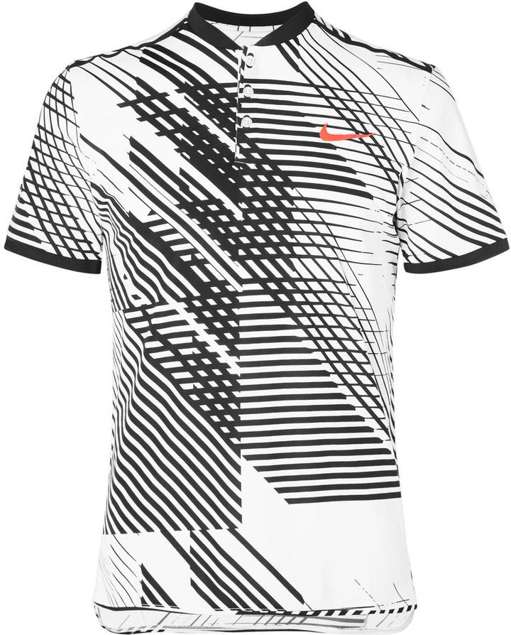 Nike Tennis Court RF Advantage Printed Dri-FIT Tennis T-Shirt