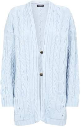 Harrods Cable Knit Cashmere Cardigan