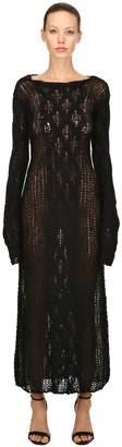 Miu Miu Sheer Mohair Knit Dress