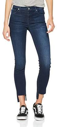 7 For All Mankind Seven International SAGL Women's The Skinny Crop Jeans, (Primary Blue 0wv), W27/L28 (Size: 27)