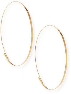 Lana Flat Magic Hoops, Yellow Gold