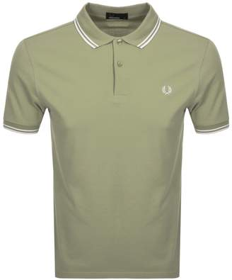 Fred Perry Twin Tipped Polo T Shirt Khaki