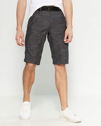 ProjekRaw Projek Raw Black End On End Belted Shorts