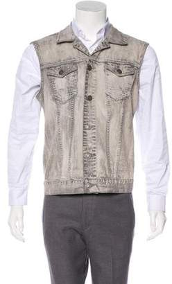 AllSaints Denim Button-Up Vest