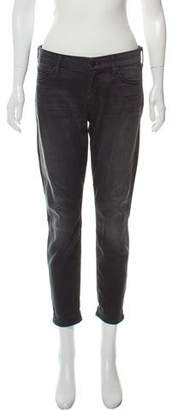 Mother Looker Cropped Mid-Rise Jeans