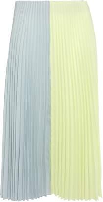 Tome Pleated Crepe Midi Skirt