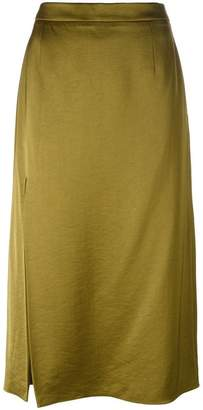 Lanvin side slit midi skirt