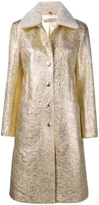 Bottega Veneta metallic button coat