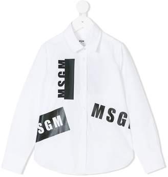 MSGM logo print shirt
