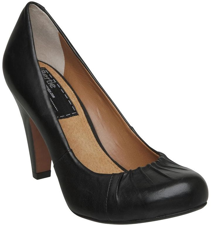 Bertie Amos Round Toe Leather Court Shoes, Black