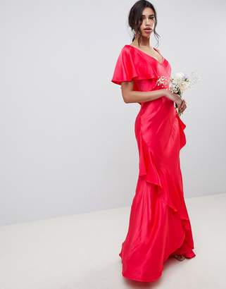 Ghost bridesmaid maxi dress with shoulder detail