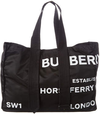 Burberry Belt Detail Horseferry Print Trench Tote