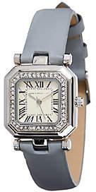 Isaac Mizrahi Live! Octagon Crystal Strap Watch