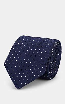 Barneys New York Men's Dot-Print Silk Necktie - Navy