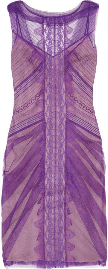 Alberta Ferretti Tulle and lace dress