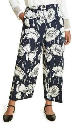 Marina Rinaldi Plus Size Recale Floral-Print Pants