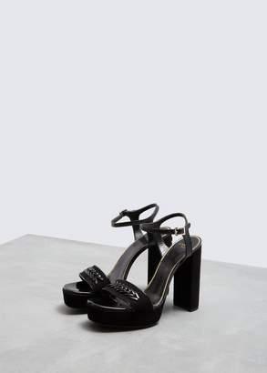 Lanvin Velvet Platform Sandal