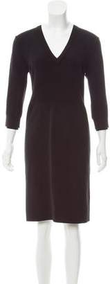 Burberry Long Sleeve Knee-Length Dress