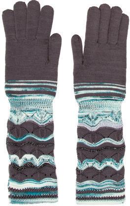 MissoniMissoni Metallic Open Knit Gloves