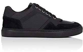 Harry's of London MEN'S GALAXY LEATHER & SUEDE SNEAKERS - BLACK SIZE 7 M