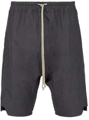 Rick Owens Basket Swinger Stretch Cotton Shorts - Mens - Grey