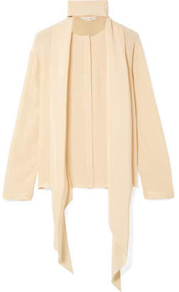 The Row Katina Pussy-bow Silk Blouse - Yellow