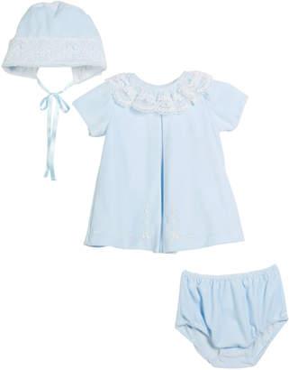 Luli & Me Velour Lace Dress w/ Hat & Diaper Cover Size 3-24 Months