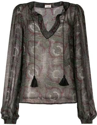 Saint Laurent paisley print blouse
