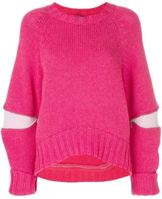 Alexander McQueen cut-out detail sweater