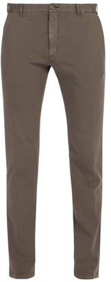J.w.brine J.w. brine J.w. Brine - Owen Cotton Blend Jersey Chino Trousers - Mens - Charcoal