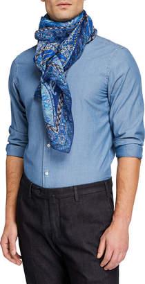 Etro Men's Linen/Silk Paisley Scarf