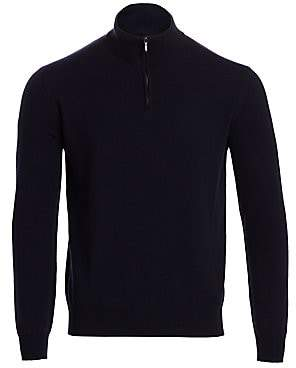 Loro Piana Men's Mezzocollo Cashmere Sweater