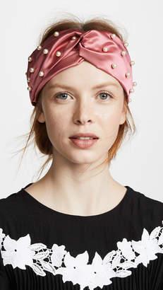 Jennifer Behr Imitation Pearl Turban Headband