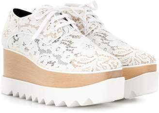 Stella McCartney Elyse lace platform brogues