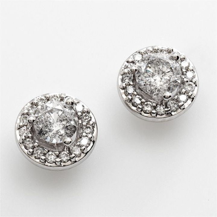 10k White Gold 1-Ct. T.w. Diamond Stud Earrings