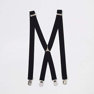 River Island Mens Black belt braces