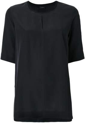Joseph front slit shortsleeved blouse