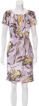 Alberta Ferretti Printed Silk Dress