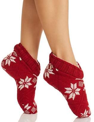 Ralph Lauren Snowflake Slipper Socks