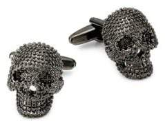 Saks Fifth Avenue Granulation Skull Cufflinks