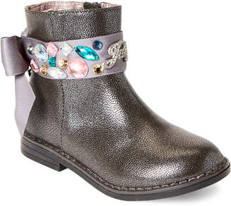 Juicy Couture Toddler Girls) Pewter Lil Naples Gems Bow Boots