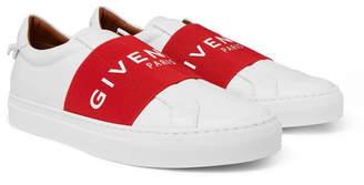 Givenchy Urban Street Logo-Print Leather Slip-On Sneakers - Men - White