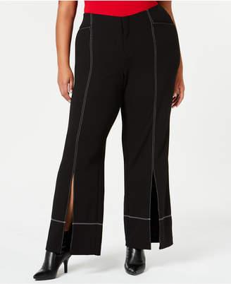 INC International Concepts I.n.c. Plus Size Slit-Front Pants