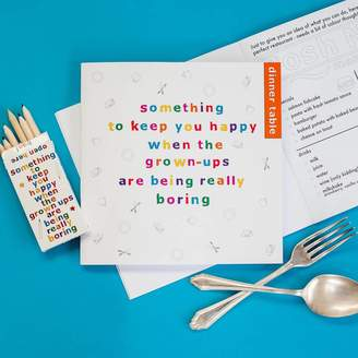 Two Little Boys Children's Dinner Table Activity Book And Pencil Set