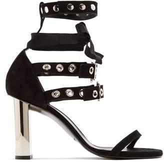 ROBERT CLERGERIE X Self-Portrait Leyla suede sandals $675 thestylecure.com