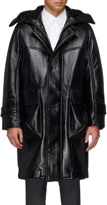 Pronounce Hooded padded patent coat